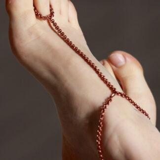 cavigliera in rame per il piede